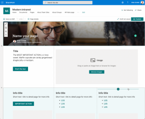 SharePoint modern skabelon side